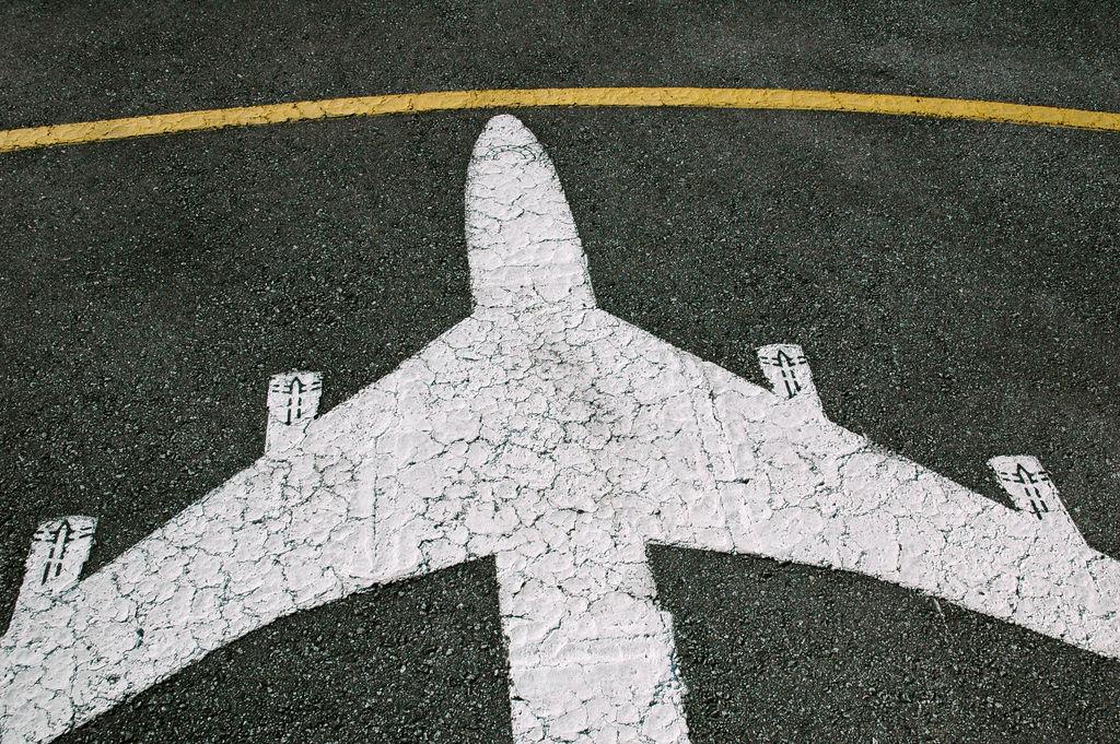 Plane on pavement