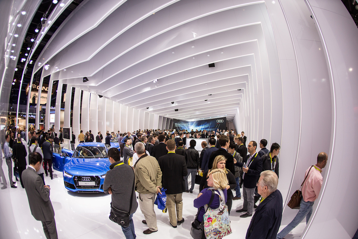 People at a Car Exhibition