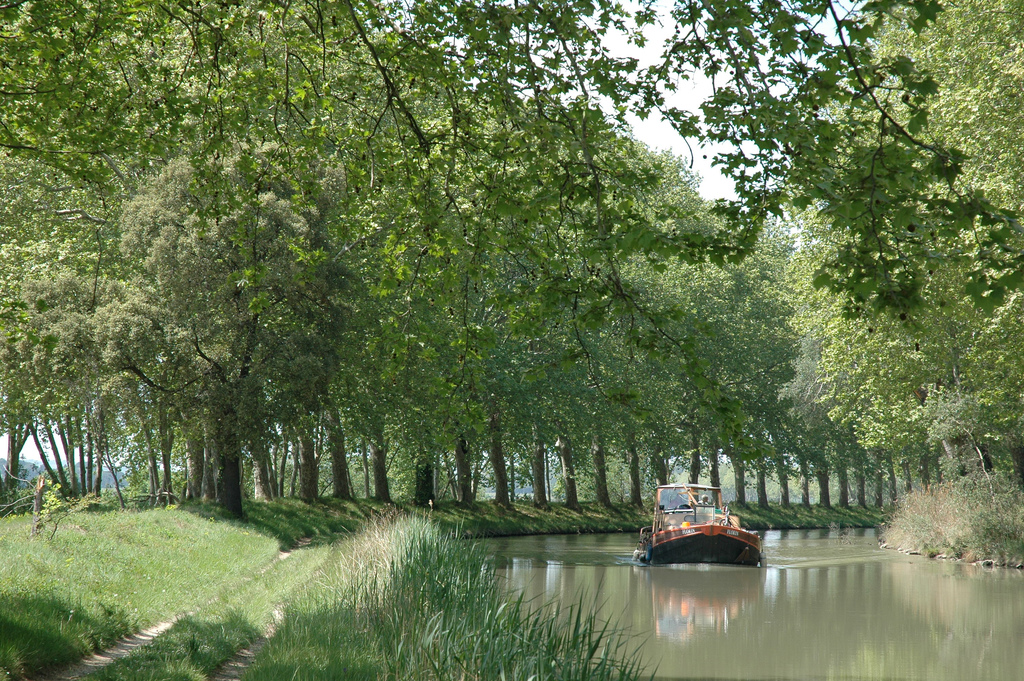 Barge on the Canal du Midi
